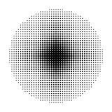 Circle Halftone geometric shapes, Dot abstract background, Minimal round backdrop Stock Photos