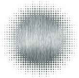 Circle halftone metal texture Royalty Free Stock Image