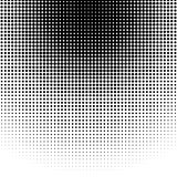 Circle halftone pattern / texture. Monochrome halftone dots. Royalty free vector illustration Royalty Free Stock Photography
