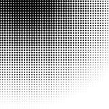 Circle halftone pattern / texture. Monochrome halftone dots. Royalty free vector illustration Royalty Free Stock Image