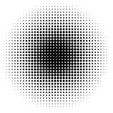 Circle halftone pattern / texture. Monochrome halftone dots. royalty free stock photography
