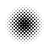 Circle halftone pattern / texture. Monochrome halftone dots. Royalty free vector illustration Royalty Free Stock Images