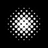 Circle halftone pattern / texture. Monochrome halftone dots. Royalty free vector illustration Stock Photography