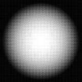 Circle halftone pattern / texture. Monochrome halftone dots. Royalty free vector illustration Stock Image