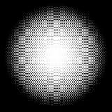 Circle halftone pattern / texture. Monochrome halftone dots. Royalty free vector illustration Stock Photos