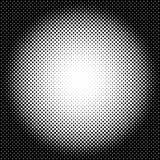 Circle halftone pattern / texture. Monochrome halftone dots. Royalty free vector illustration Stock Photo