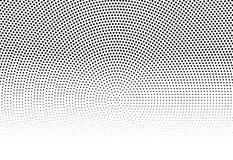 Circle halftone pattern / texture. Monochrome halftone dots. Royalty free vector illustration Royalty Free Stock Photo