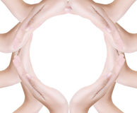Circle hand isolated on the white. Image of Circle hand isolated on the white royalty free stock photo