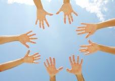 Circle of hands Royalty Free Stock Image