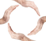 Circle Hands Royalty Free Stock Photography