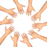 Circle of hands Royalty Free Stock Photos