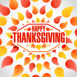 Circle Happy thanksgiving stamp Stock Images