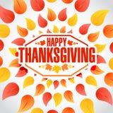 circle Happy thanksgiving stamp vector illustration
