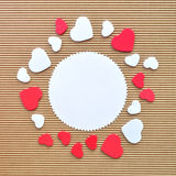 Circle hearts border Royalty Free Stock Photos
