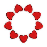 Circle of hearts Stock Images