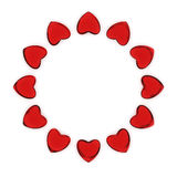 Circle of hearts Royalty Free Stock Images
