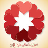Circle of hearts Royalty Free Stock Photos