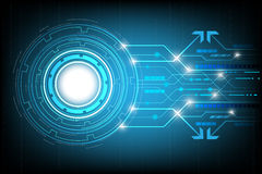 Free Circle Hi-tech Abstract Background Vector,digital Business With Various Technological Elements. Stock Image - 93175711