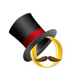 Circle in high hat vector Royalty Free Stock Images