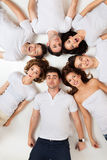 Circle of hilarious friends Royalty Free Stock Image