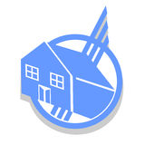 Circle house icon Royalty Free Stock Photos