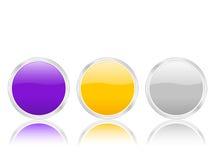 Circle icon with contour 2 Stock Photos