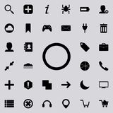 a circle icon. Detailed set of minimalistic icons. Premium graphic design. One of the collection icons for websites, web design, royalty free illustration