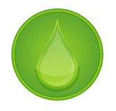 Circle Icon Drop Stock Photo
