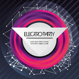 Circle icon. Electro Party design. Vector graphic Stock Image