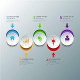 Circle icon steps infographics mockup template background Royalty Free Stock Photography