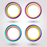 Circle icons Royalty Free Stock Images