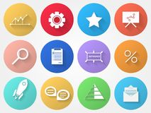 Circle icons for outsource Stock Photo