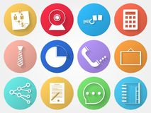 Circle icons for outsource Royalty Free Stock Photos