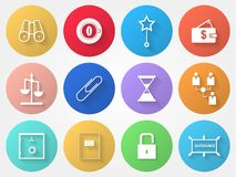 Circle icons for outsource Royalty Free Stock Photography