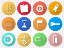 Circle icons for outsource Royalty Free Stock Photo