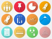 Circle icons for outsource Stock Images