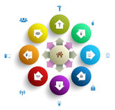 Circle with icons Royalty Free Stock Images