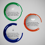 Circle illustration. Can be used for web design, infographics. Eps10 Royalty Free Stock Photo