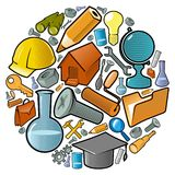 Circle of industry icons vector illustration