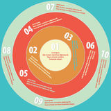 Circle info. Four color circle info for infographics Royalty Free Stock Photos