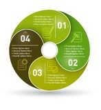 Circle info graphic label four option Royalty Free Stock Image