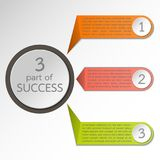 3 circle infographic for business. 3 colorful circle infographic for business stock illustration
