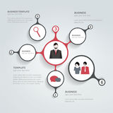 Circle infographic chart. Stock Images