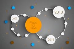 Circle infographic Royalty Free Stock Photo