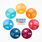 Circle infographic. Diagram, graph, presentation. Stock Image