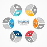 Circle infographic, diagram, presentation, graph. Layout for your options or steps. Abstract template for background Royalty Free Stock Image