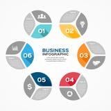 Circle infographic, diagram, presentation, graph Royalty Free Stock Image