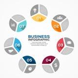 Circle infographic, diagram, presentation, graph Royalty Free Stock Photo