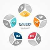 Circle infographic, diagram, presentation, graph Royalty Free Stock Photography