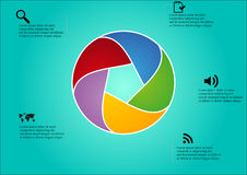 Circle infographic Stock Images